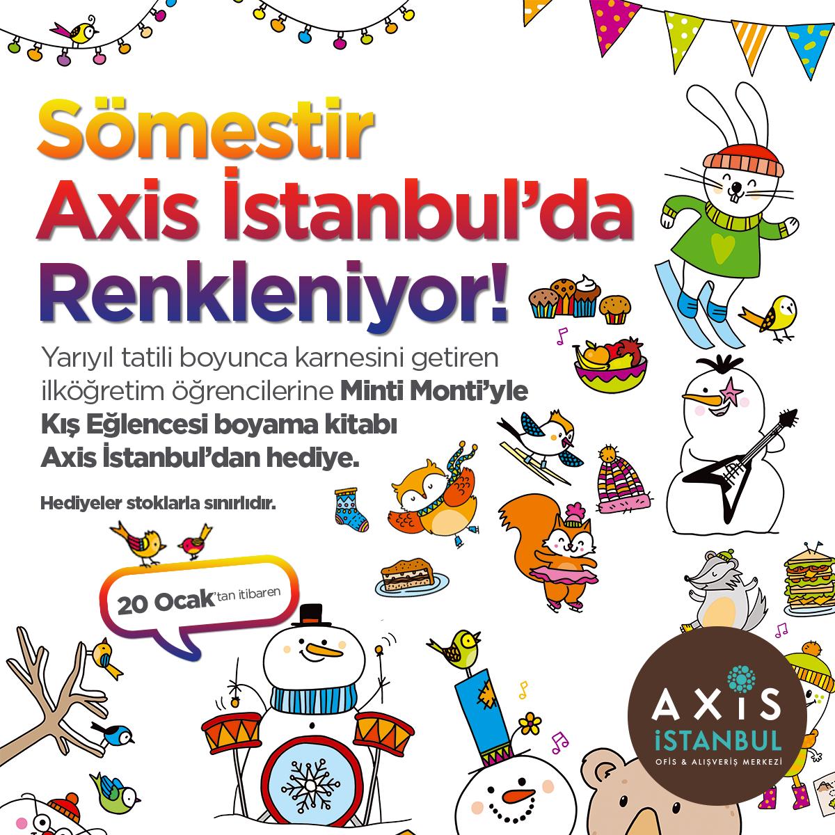 Axis Istanbul Kampanyalar Minti Monti Yle Kis Eglencesi Boyama Kitabi